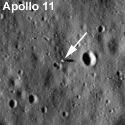 Photo de Apollo 11 depuis LRO, juillet 2009